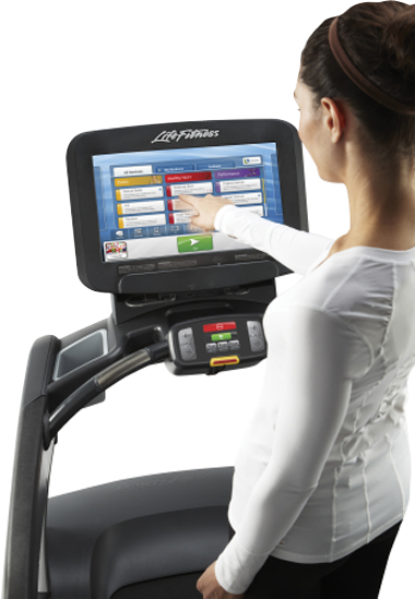 life fitness discover si treadmill console